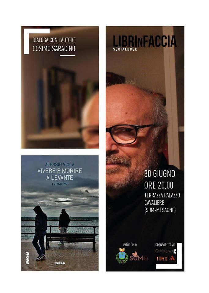 """Librinfaccia presenta """"Vivere e morire a levante"""" di Alessio Viola al SUM di Mesagne"""