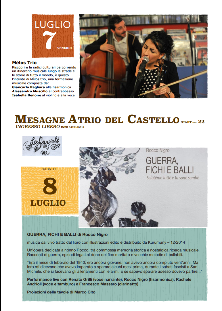 """Circolo Arci La Manovella, il 7 e l'8 luglio """"Invasioni culturali"""""""