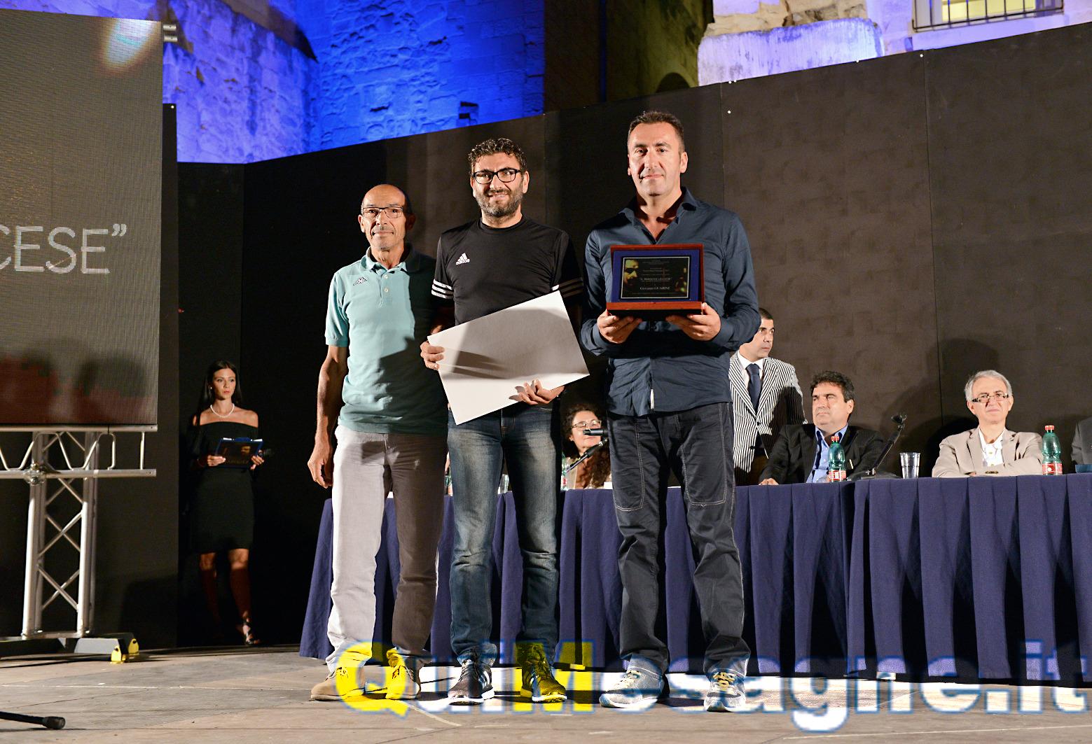 Giovanni Guarini riceve il premio Salento Event of Contemporary Art 2017