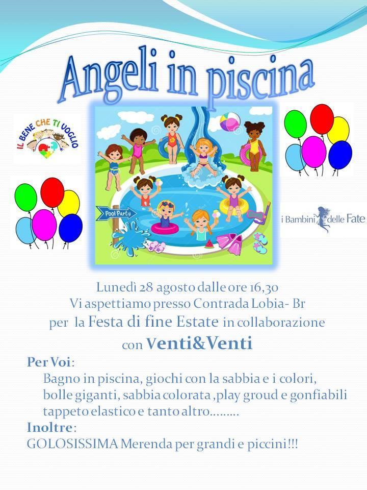 """Pomeriggio speciale con gli """"Angeli in piscina"""""""