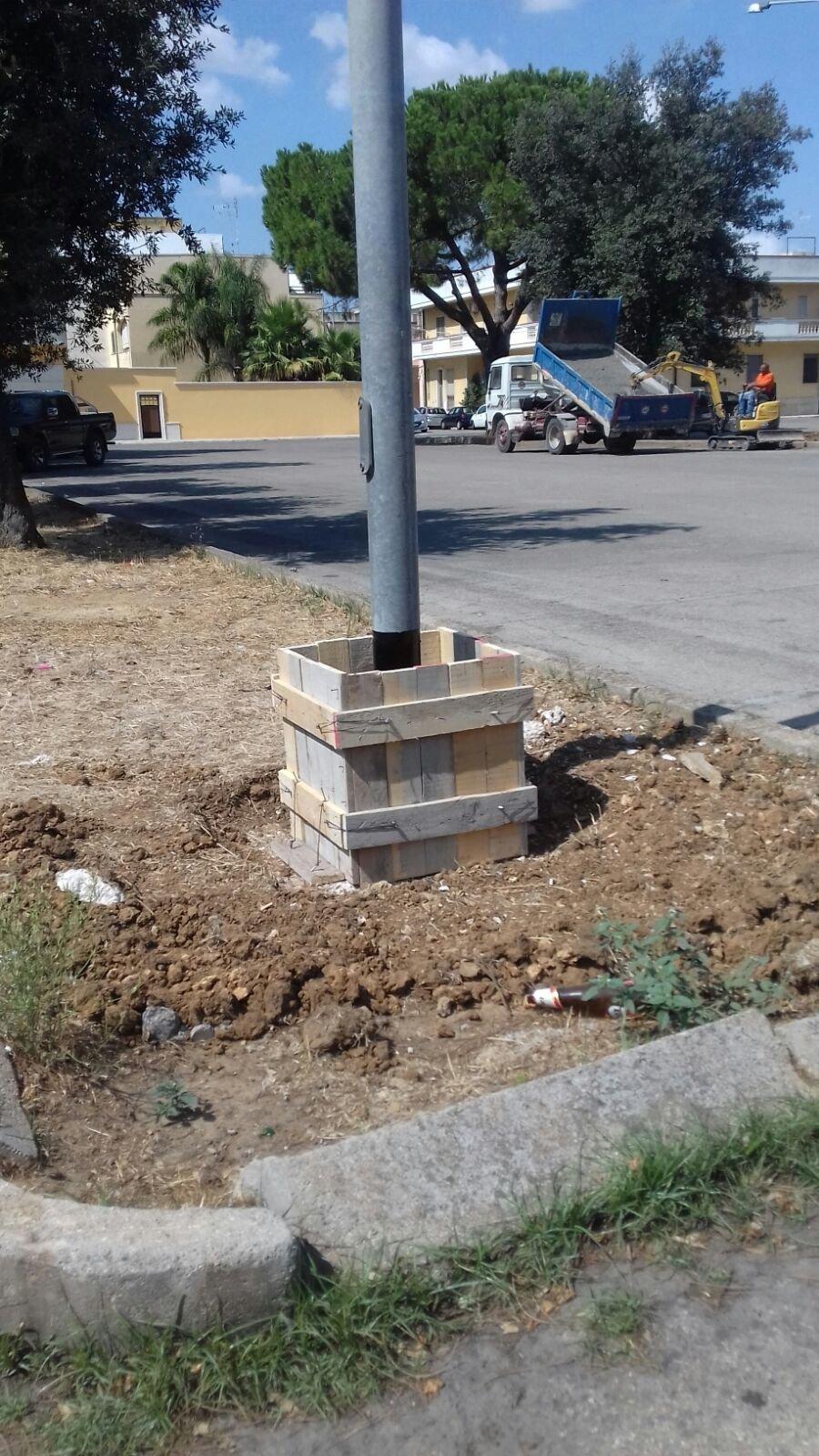 Al via le opere di rinforzo dei pali della pubblica illuminazione