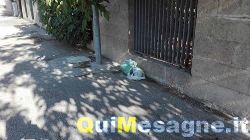 UFFICIO RECLAMI – Buste di spazzatura vicino Villa Cavaliere