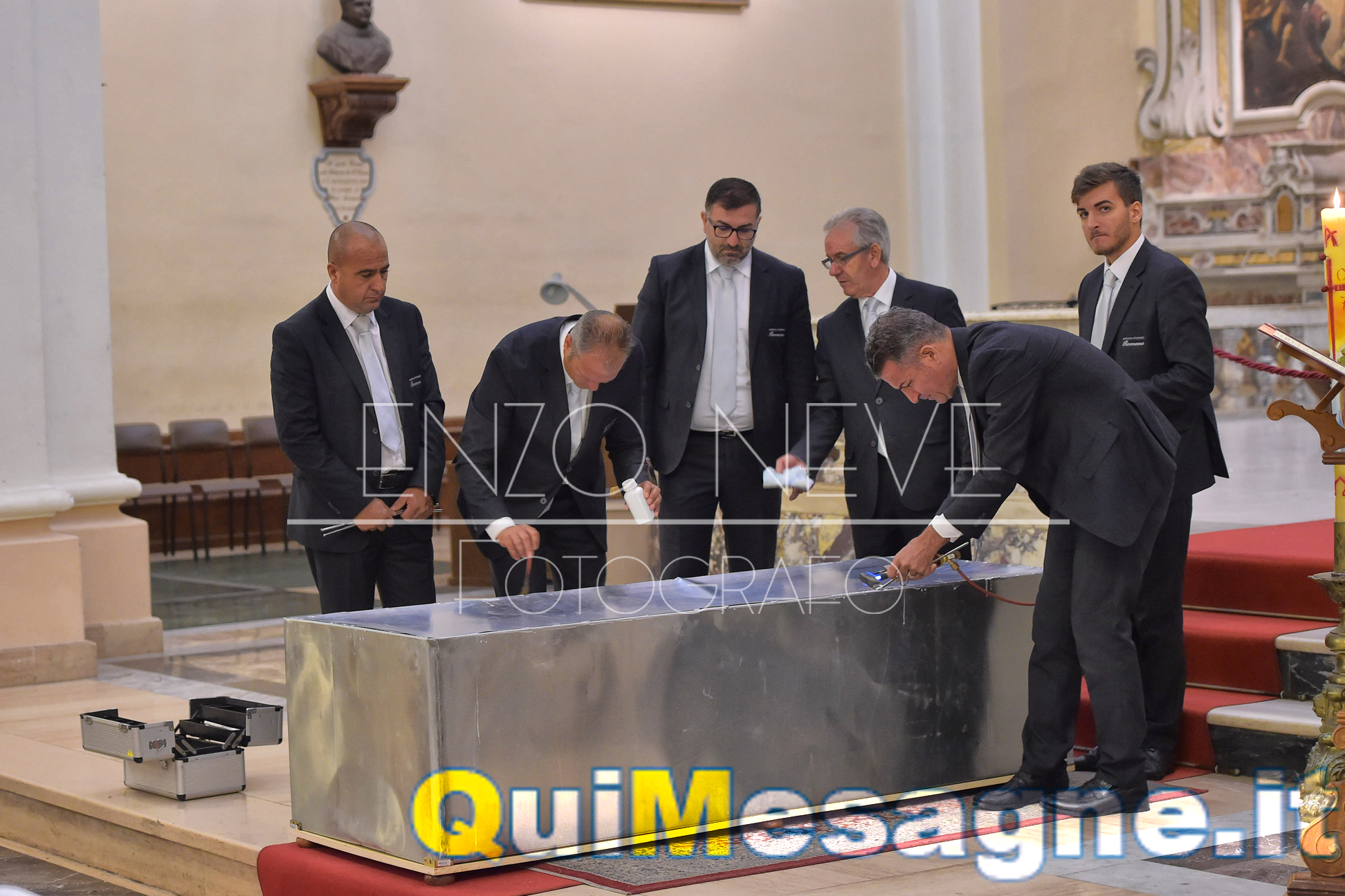"""La ditta mesagnese """"Onoranze Funebri Romano"""" per la traslazione delle spoglie di Matteo Farina"""