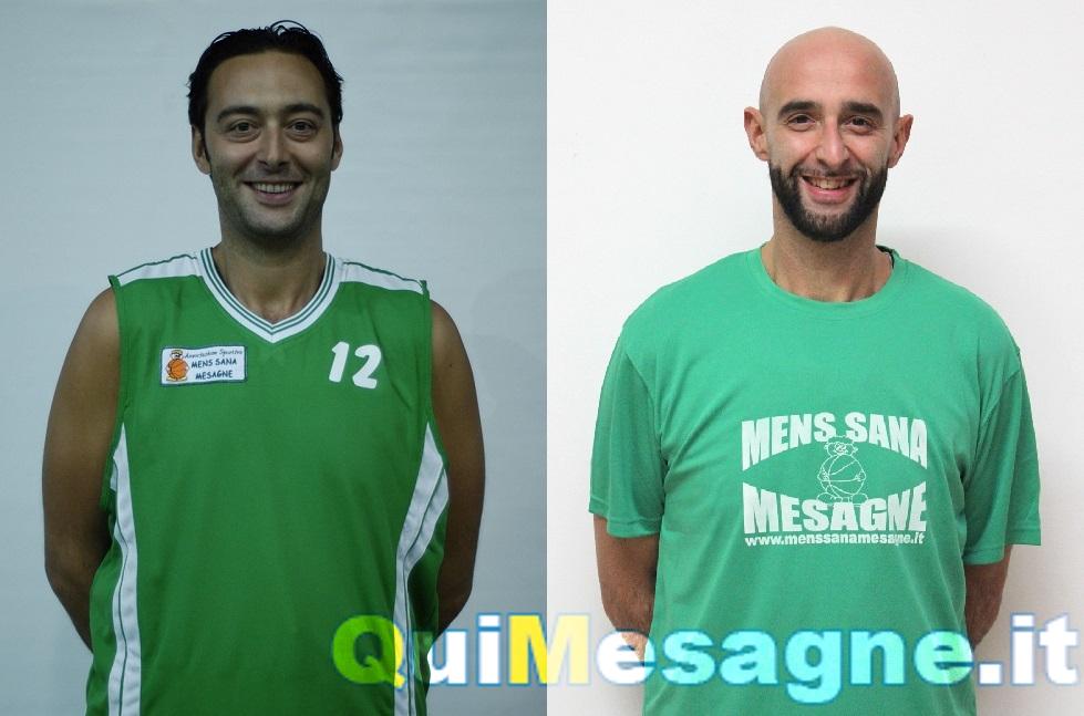Basket Serie D, la Mens Sana Mesagne tessera i fratelli Risolo