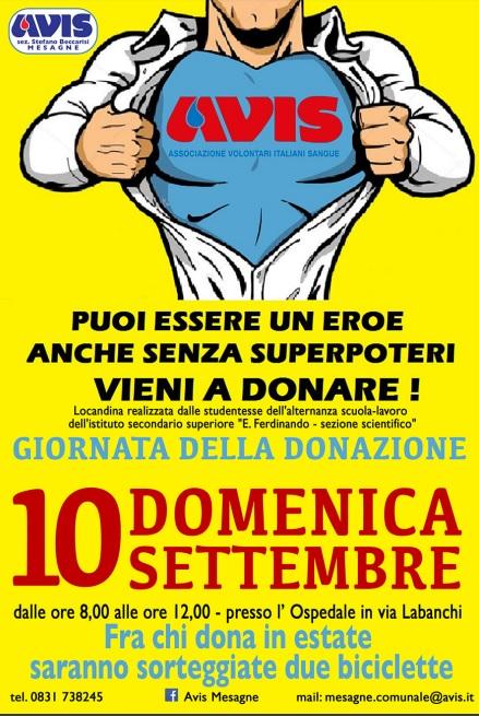 Avis, domenica 10 settembre donazione del sangue