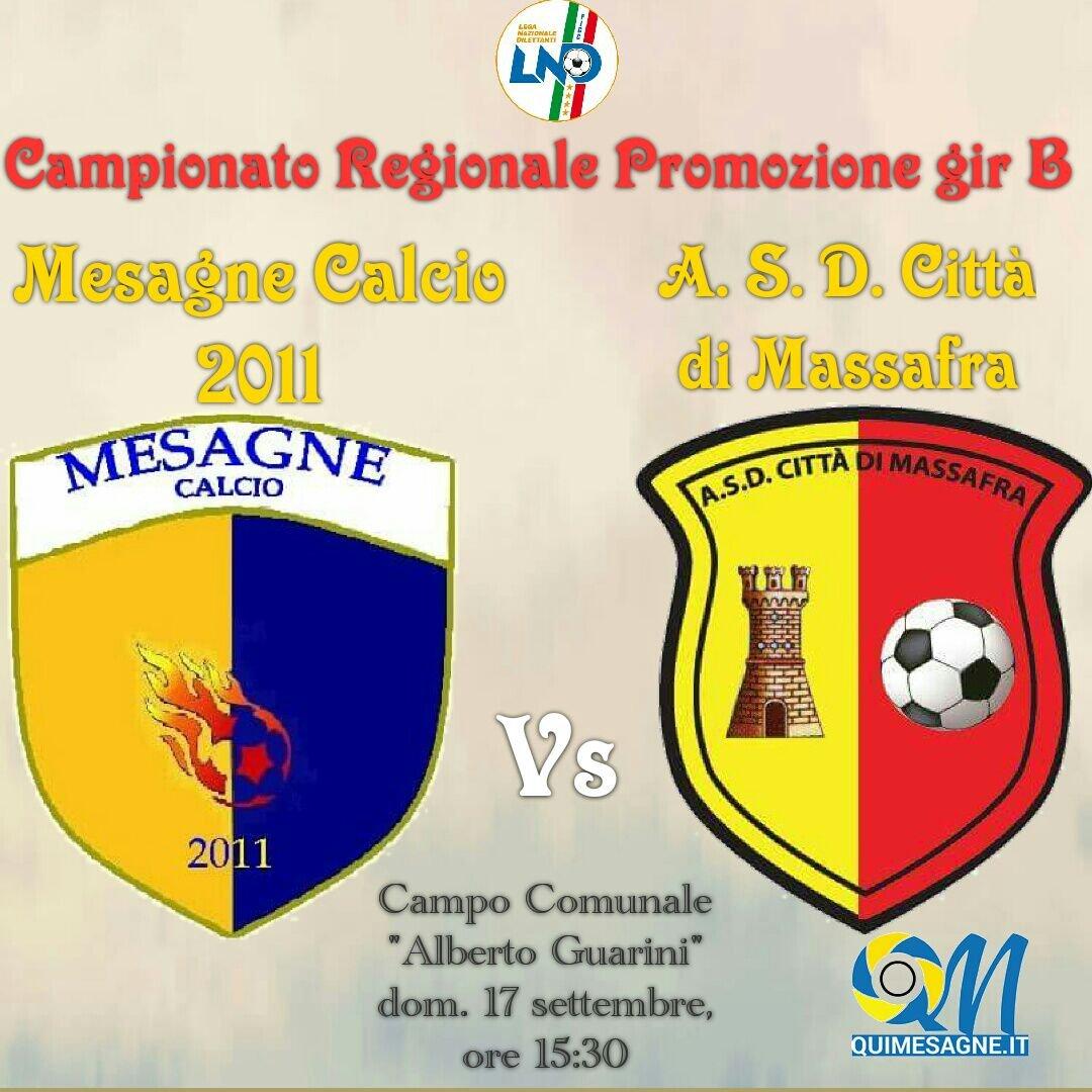 Il Mesagne Calcio debutta al Guarini in campionato