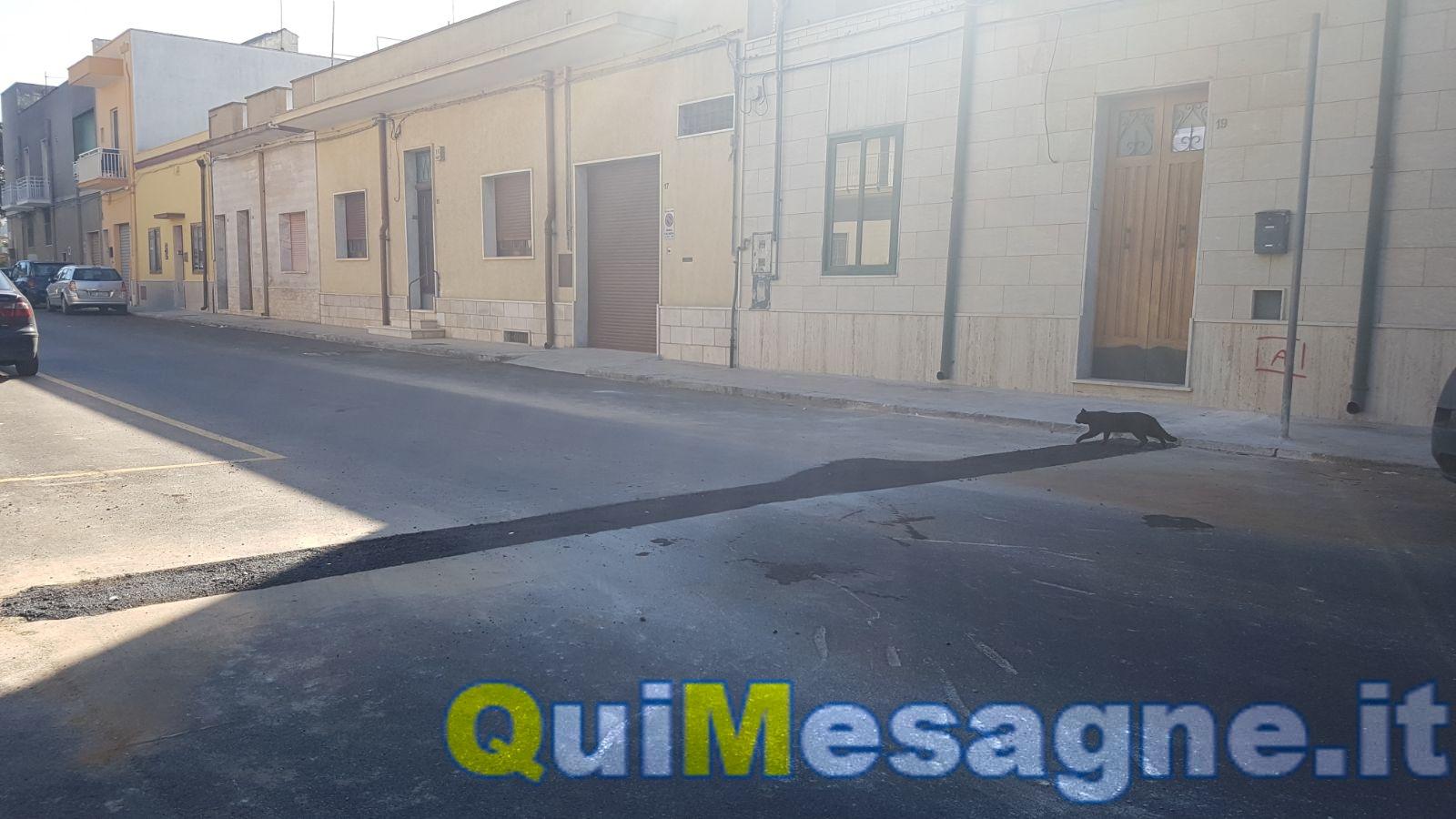UFFICIO RECLAMI – Sfregiata anche via Mazzini, una cicatrice sul nuovo manto stradale