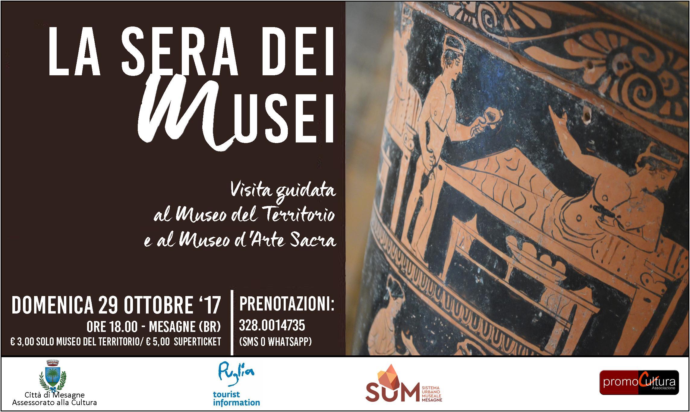 """""""LA SERA DEI MUSEI"""", visita guidata al Museo del Territorio e al Museo d'Arte Sacra di Mesagne."""