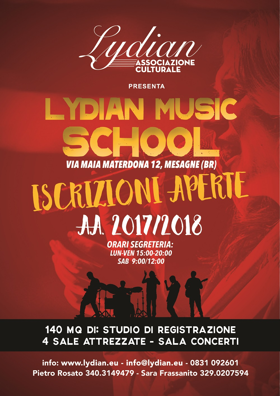 La Lydian Music School riapre le iscrizioni per il nuovo Anno Accademico 2017/2018