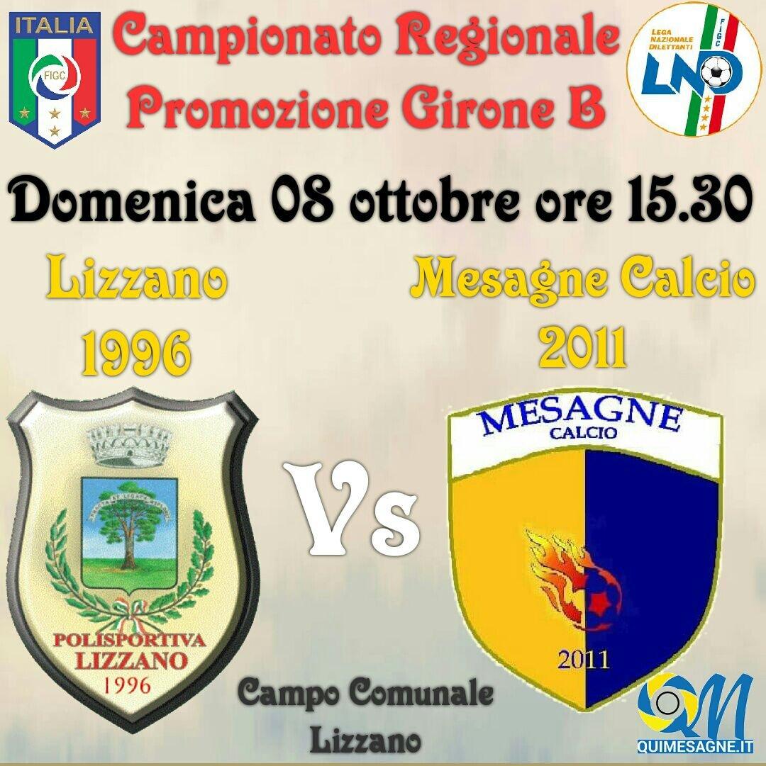 Mesagne calcio, big match con il Lizzano