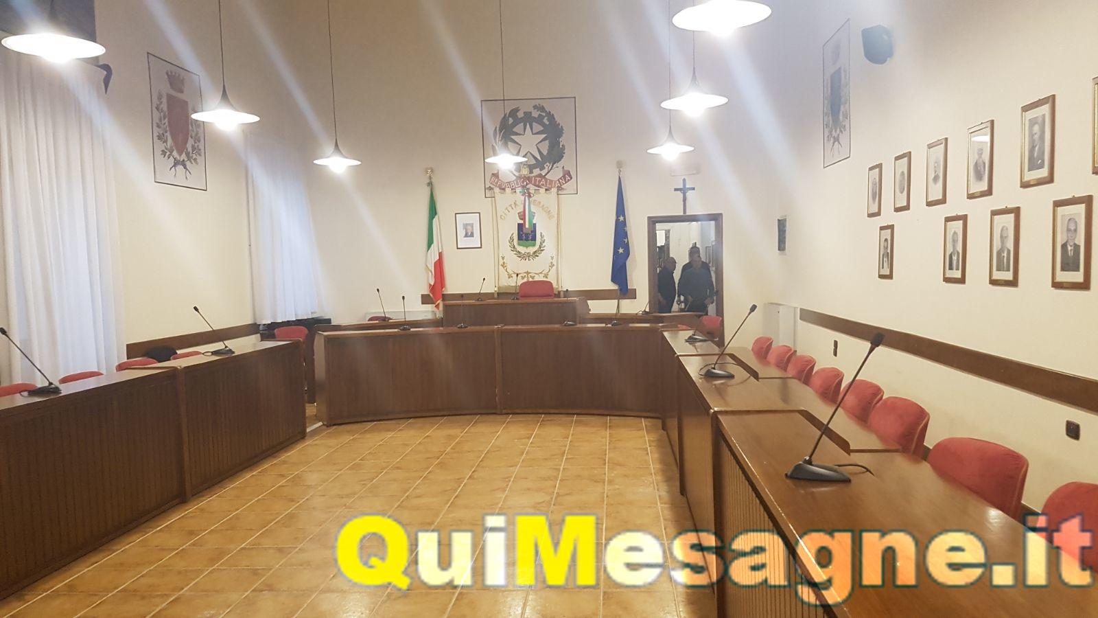 Torna a riunirsi il Consiglio Comunale Giovedì 11 gennaio 2018