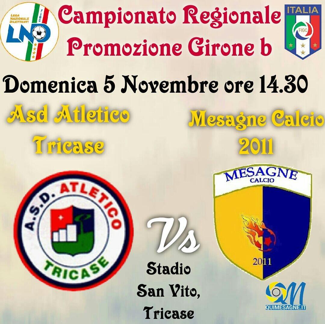 Mesagne Calcio: Domenica a Tricase per ritrovare la vittoria