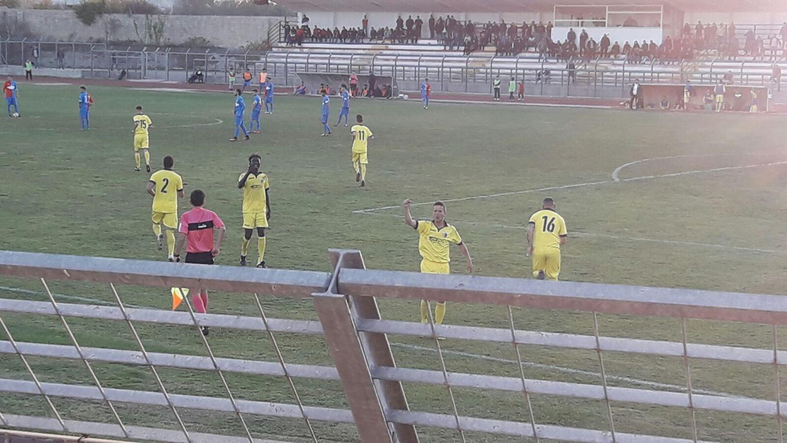 Tricase – Mesagne 0-1, Disantantonio su rigore infiamma i gialloblù