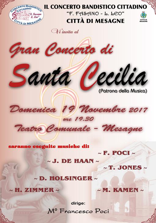 """Domenica 19 Novembre al Teatro Comunale """"Gran Concerto di Santa Cecilia"""""""