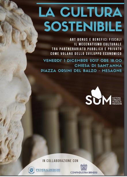 La Cultura Sostenibile, il Primo Dicembre incontro con gli esperti