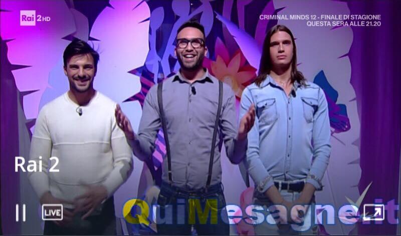 Amedeo Venza nel programma Detto Fatto di Caterina Balivo in onda su Rai2