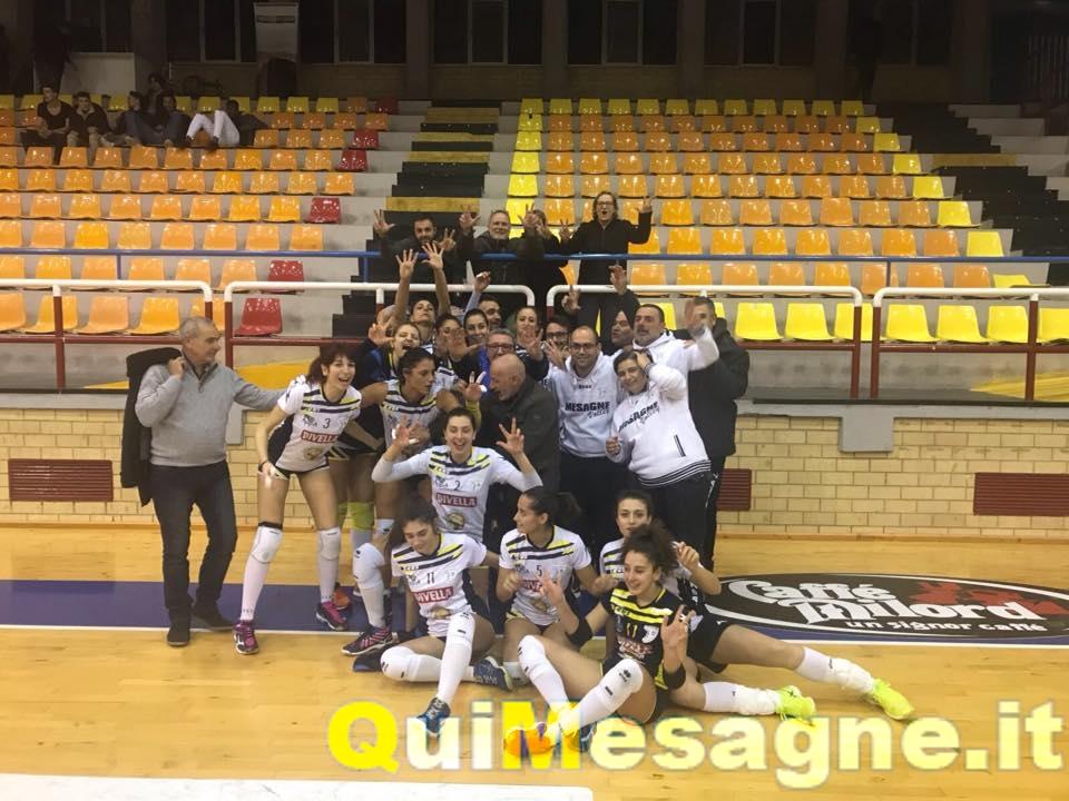 La Divella Mesagne Volley vince anche la nona giornata a Minturno