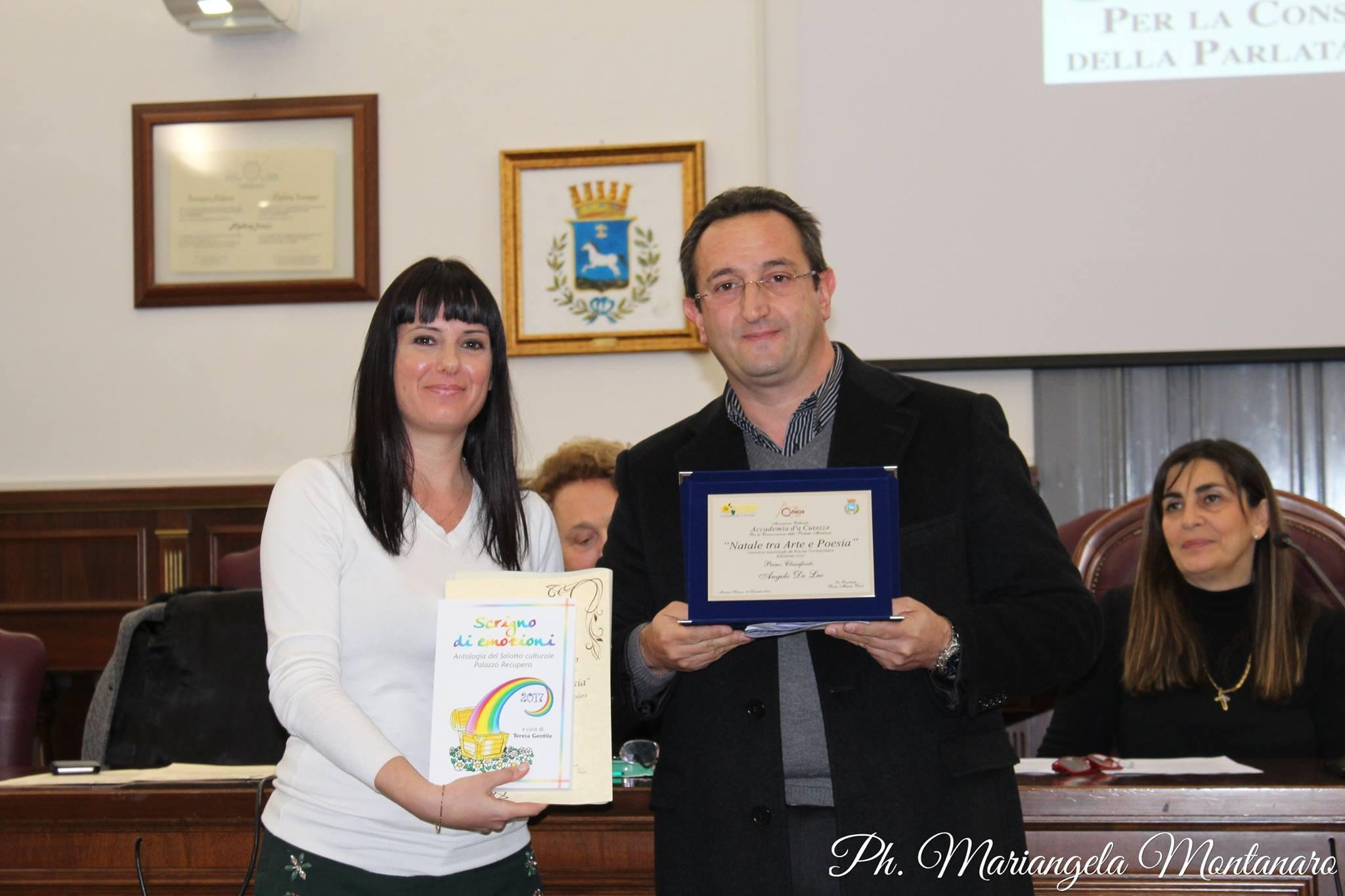 Il poeta Angelo Deleo primo classificato al concorso nazionale di poesia a Martina Franca