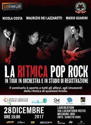 La ritmica pop-rock in tour in studio e in orchestra