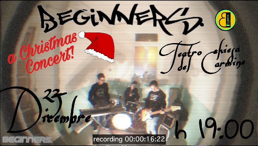 """Questa sera 27 dicembre """"I Beginners"""" in concerto nel Teatro del Carmine"""