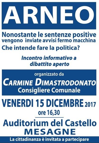 Arneo, oggi alle 16.30 al Castello manifestazione pubblica