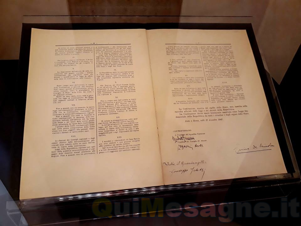 In chiusura del 70° della nascita della Costituzione una amara nota celebrativa – di Carmelo Molfetta