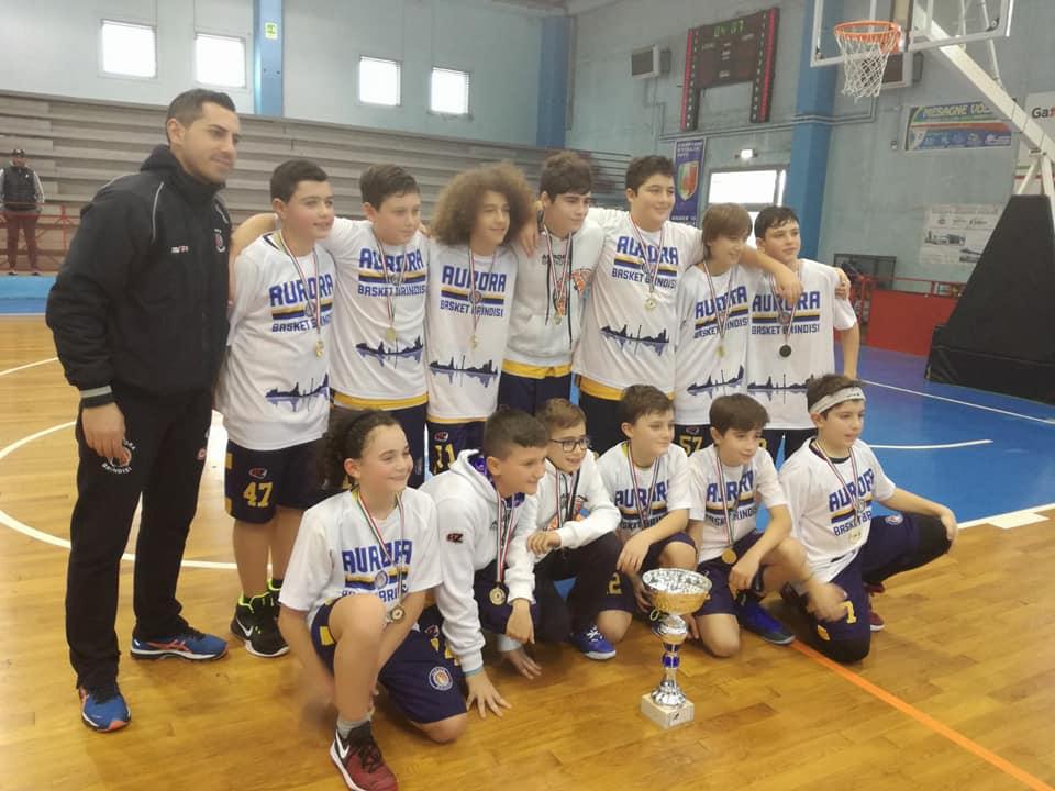 A Mesagne trionfo dell'Aurora Brindisi al torneo della befana