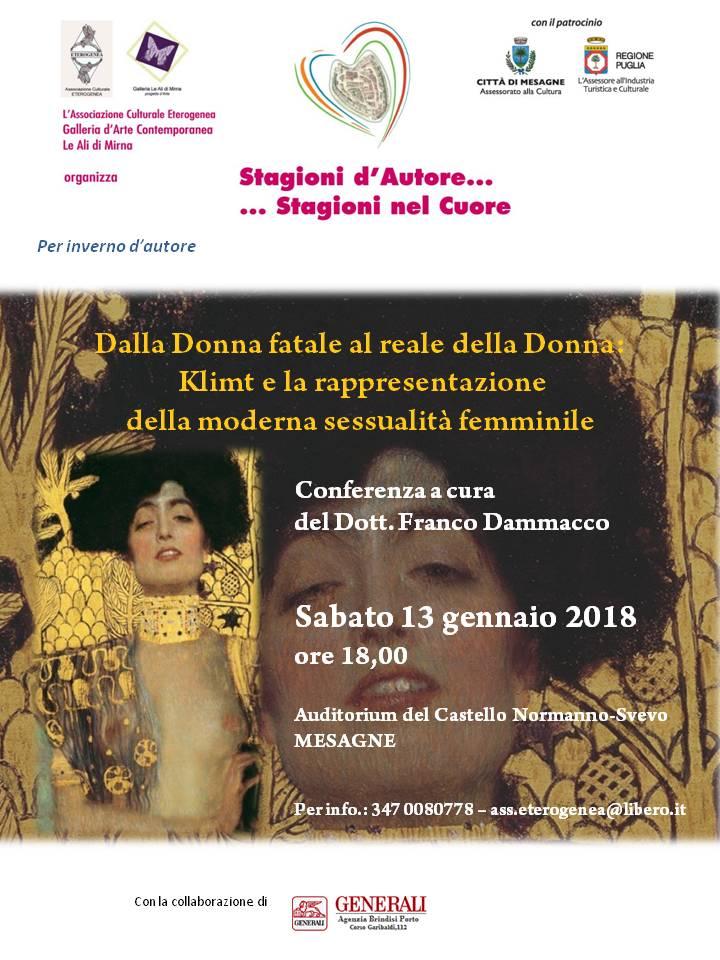 Conferenza di Franco Dammacco su Gustav Klimt nel centenario della sua scomparsa.