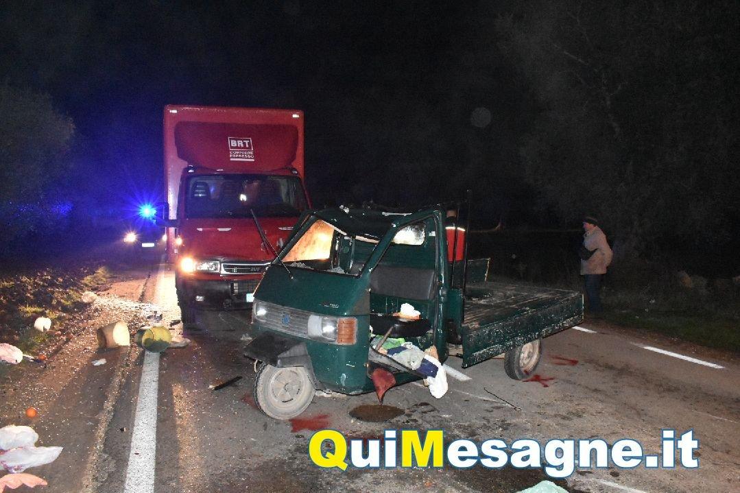Pauroso incidente sulla provinciale per Torre, ferito un 78enne