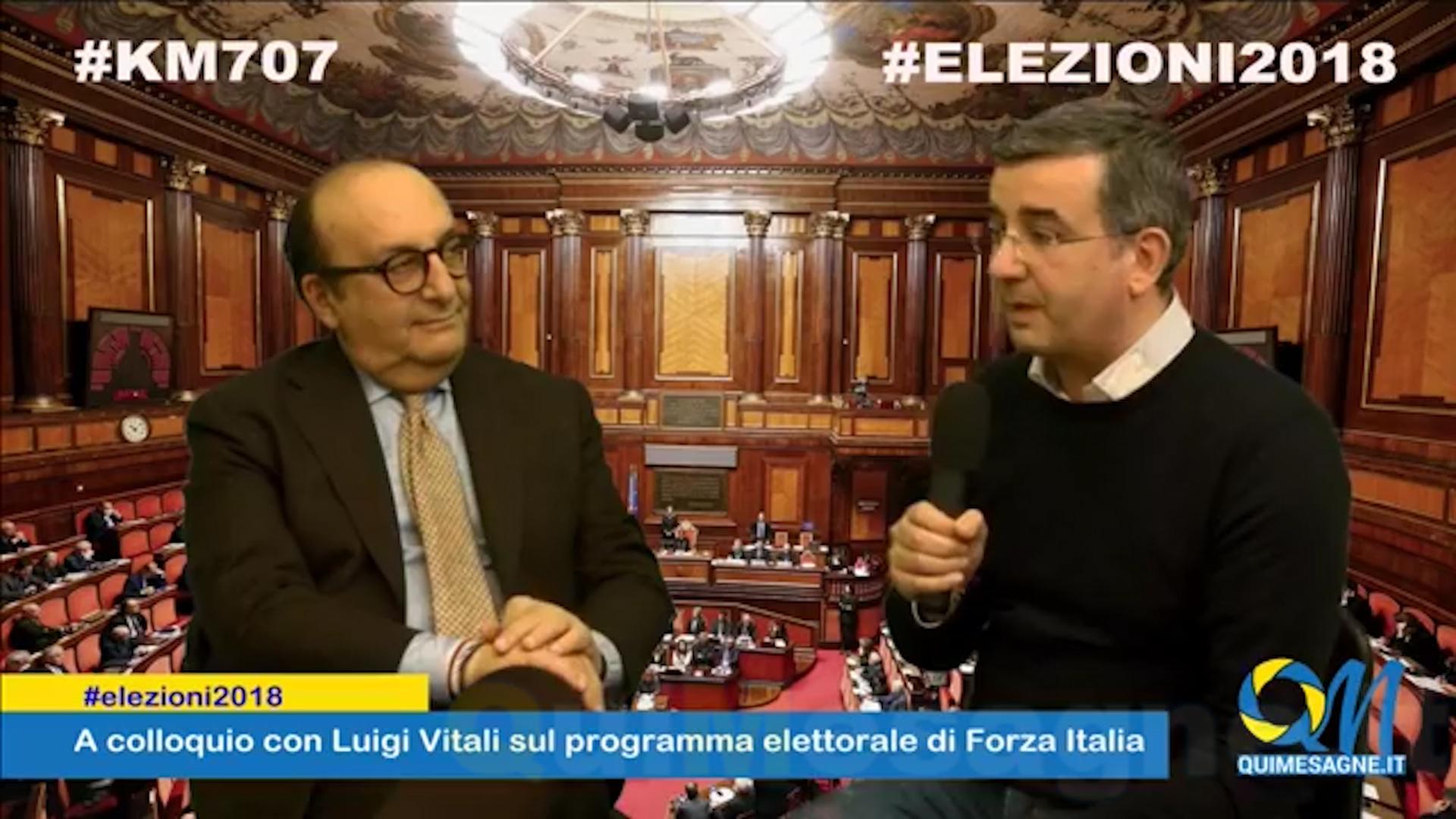#KM707 #ELEZIONI2018 – A colloquio con Luigi Vitali sul programma elettorale di Forza Italia