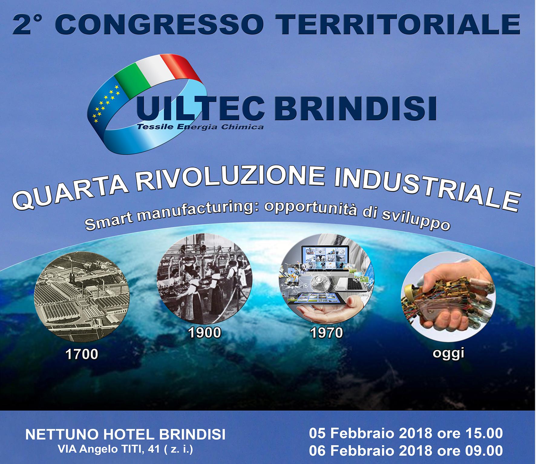 Lunedì 5 e martedì 6 febbraio la Uiltec vivrà il suo secondo congresso territoriale