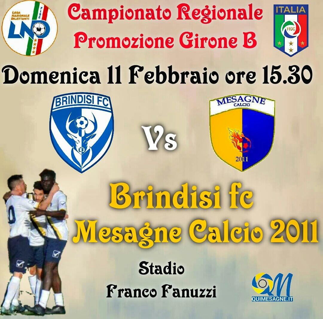 Mesagne Calcio : Tutti al Fanuzzi c'è il derby contro il Brindisi