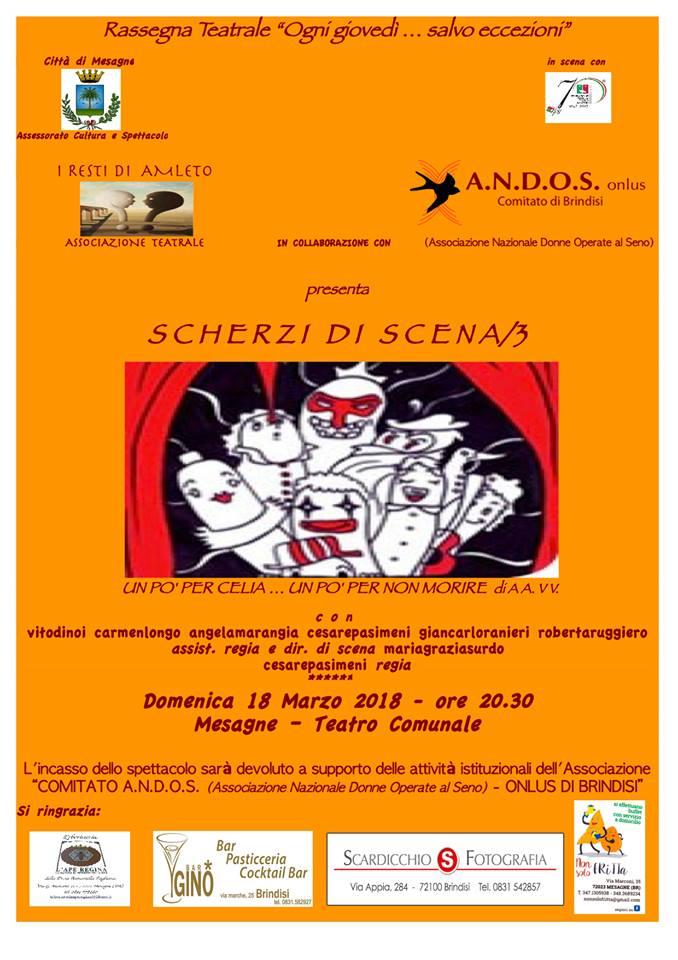 """Domenica 18 Marzo al Teatro Comunale """"Scherzi di scena/3"""""""