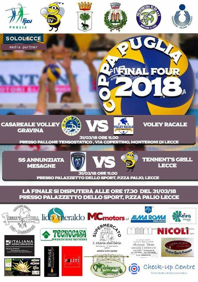 Volley Maschile, ancora poche ore e poi sarà battaglia in Coppa Puglia