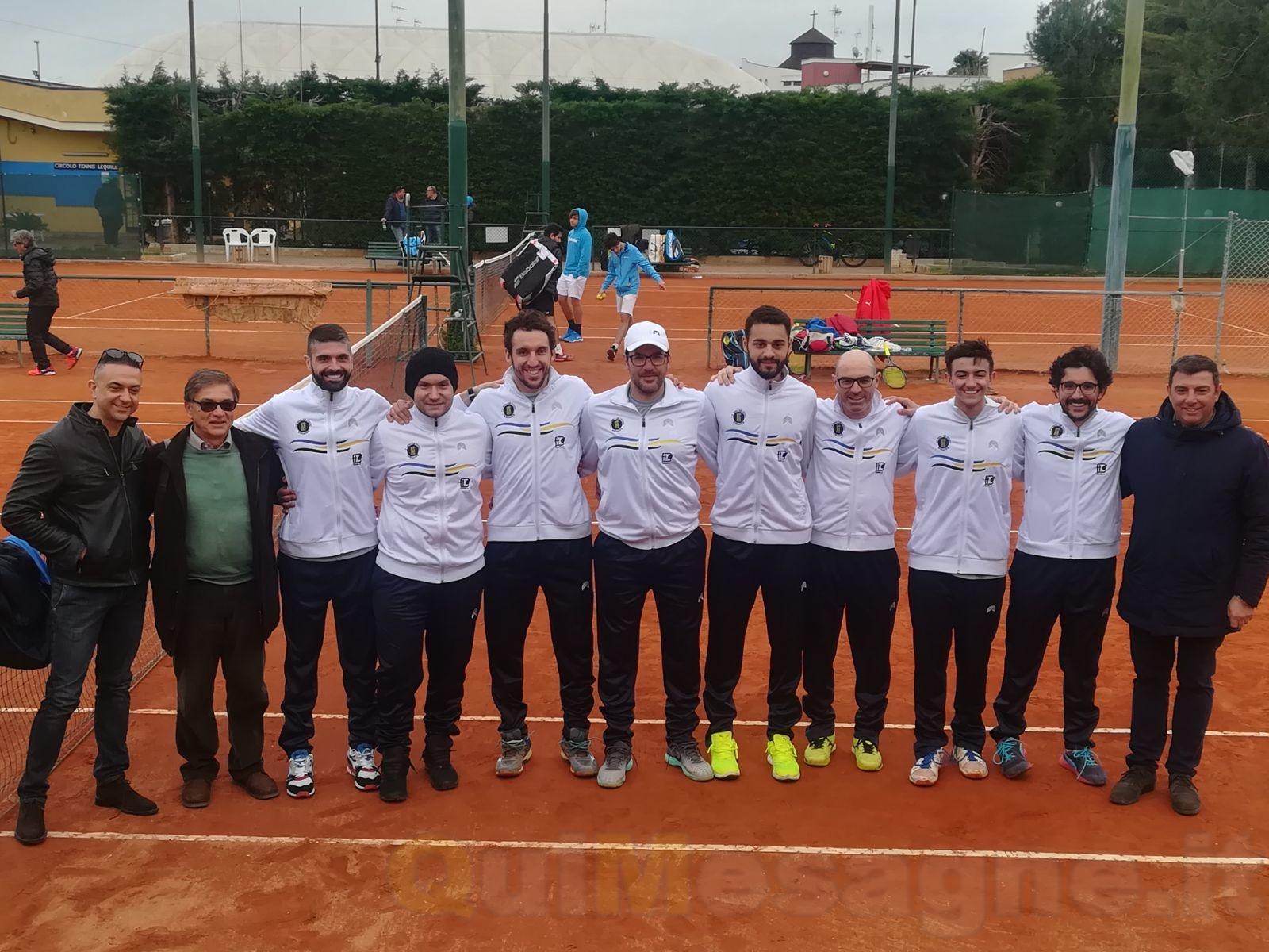 """Il """"De Guido"""" chiude al primo posto il girone di serie C di tennis"""