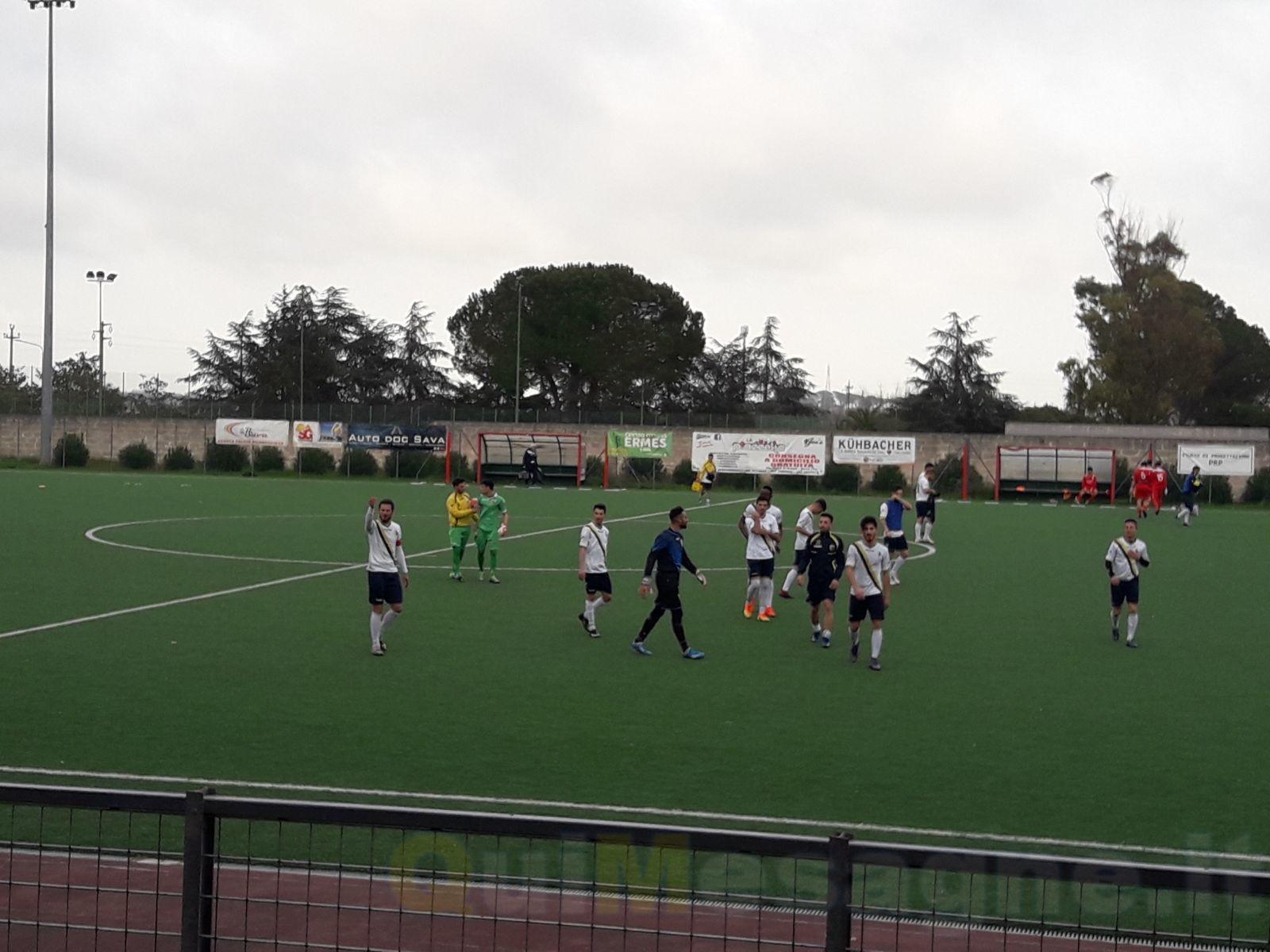 Con la vittoria del Mesagne sul Sava per 2 a 0 è terzo posto in classifica