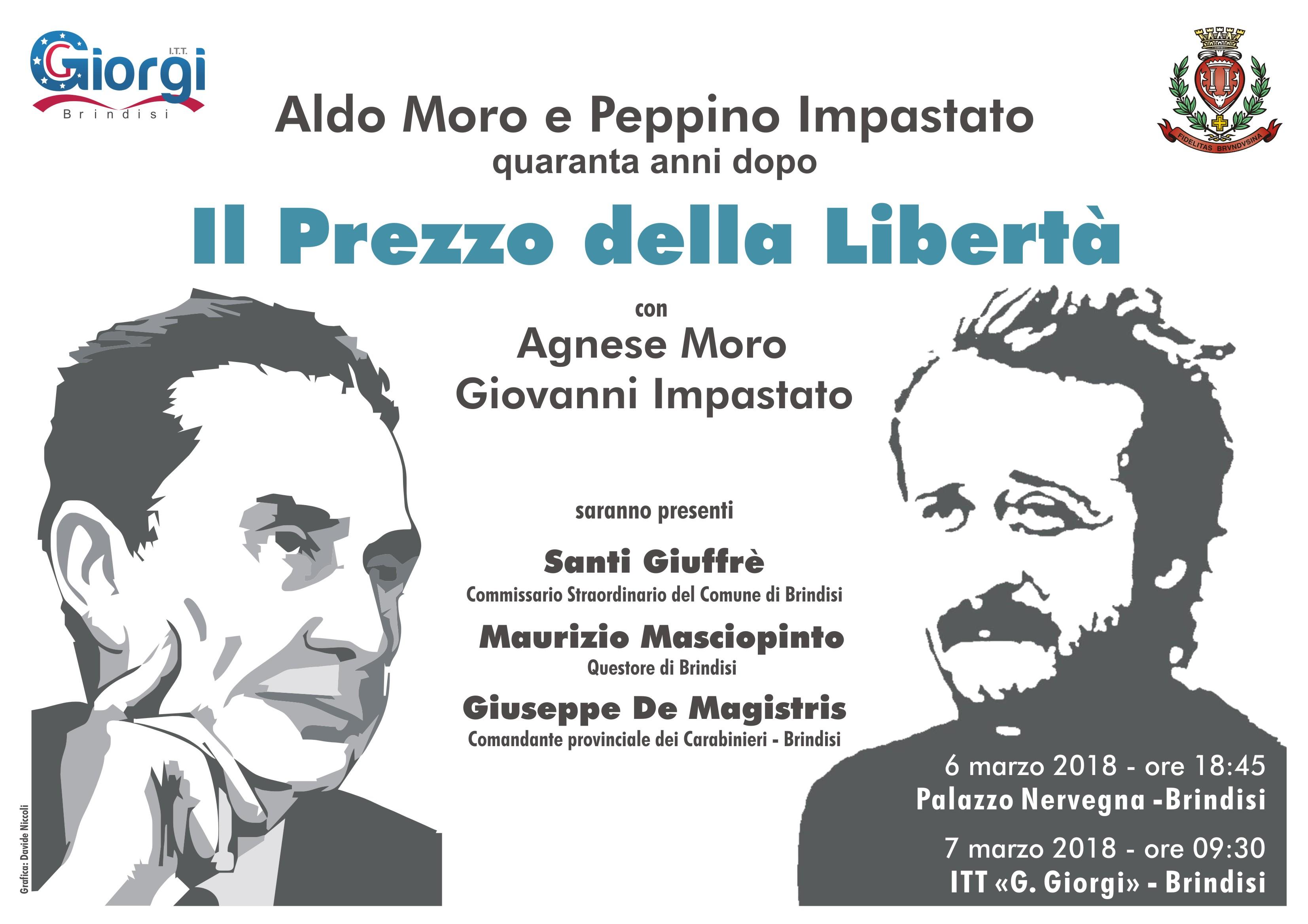 """""""Il prezzo della libertà"""" il Giorgi incontra Agnese Moro e Giovanni Impastato"""