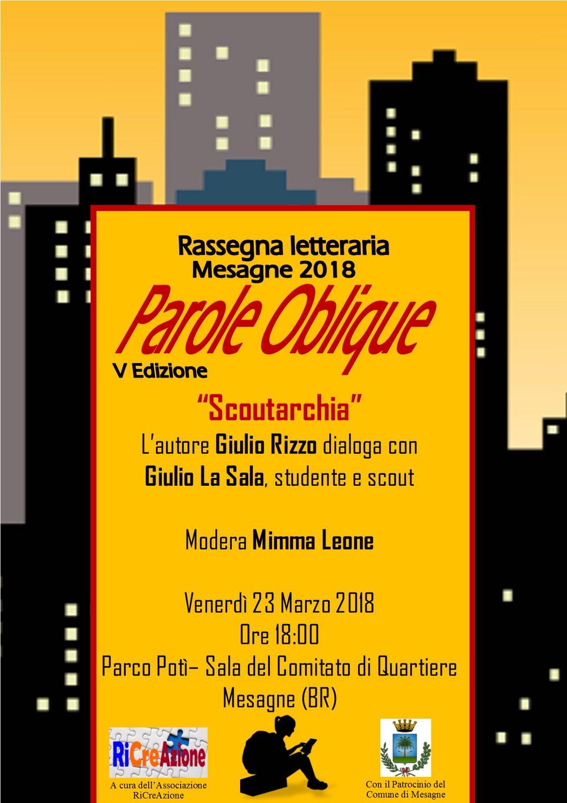 """Parole Oblique propone il libro """"Scoutarchìa"""" di Giulio Rizzo"""