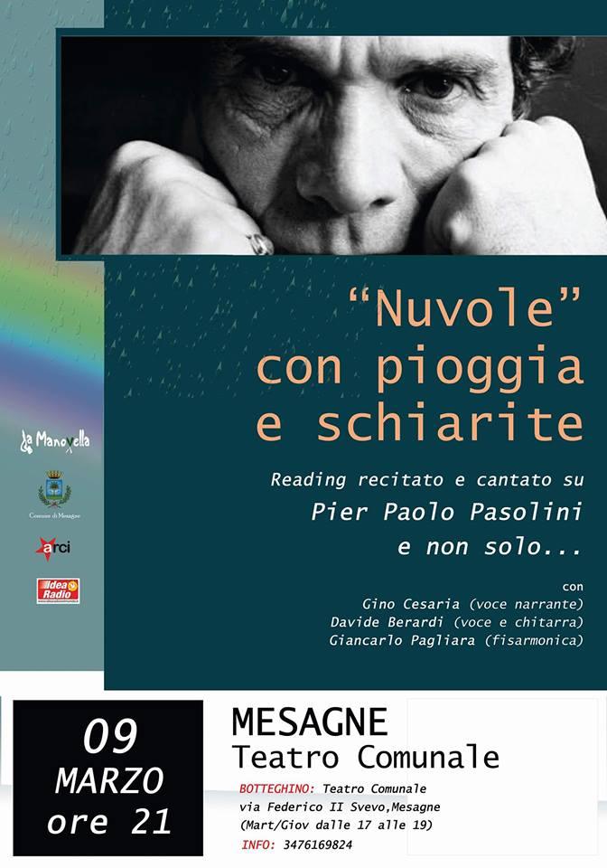 """Al Teatro Comunale di Mesagne in scena """"Nuvole con pioggia e schiarite"""""""