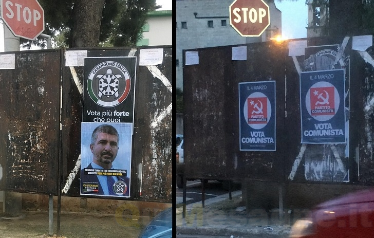 UFFICIO RECLAMI – Guerra di manifesti per le elezioni del 4 marzo