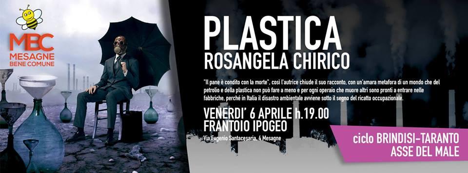"""Presentazione libro """"Plastica"""" con l'autrice Rosangela Chirico"""