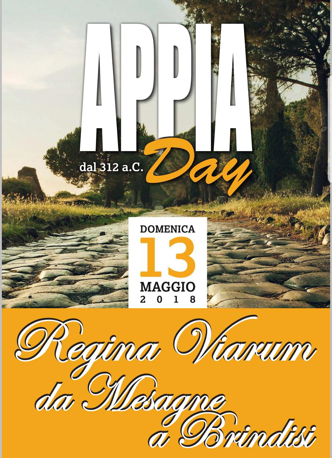 """Domenica 13 Maggio corsa sulla """"Regina Viarum da Mesagne a Brindisi"""""""
