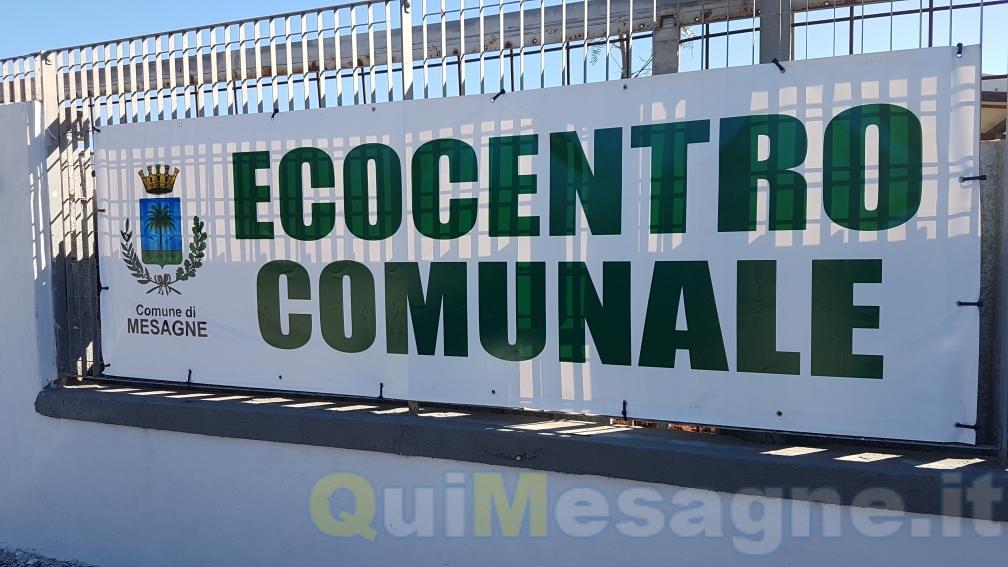Partito l'Ecocentro di via Marangio nella zona industriale – VEDI DIRETTA