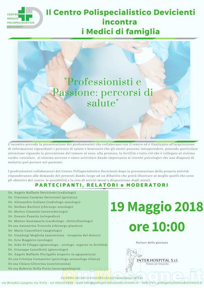 Sabato 19 Maggio il Centro Polispecialistico Devicienti incontra i Medici di Famiglia