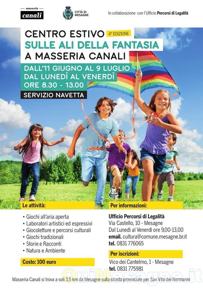 Riparte il Centro Estivo comunale a Masseria Canali