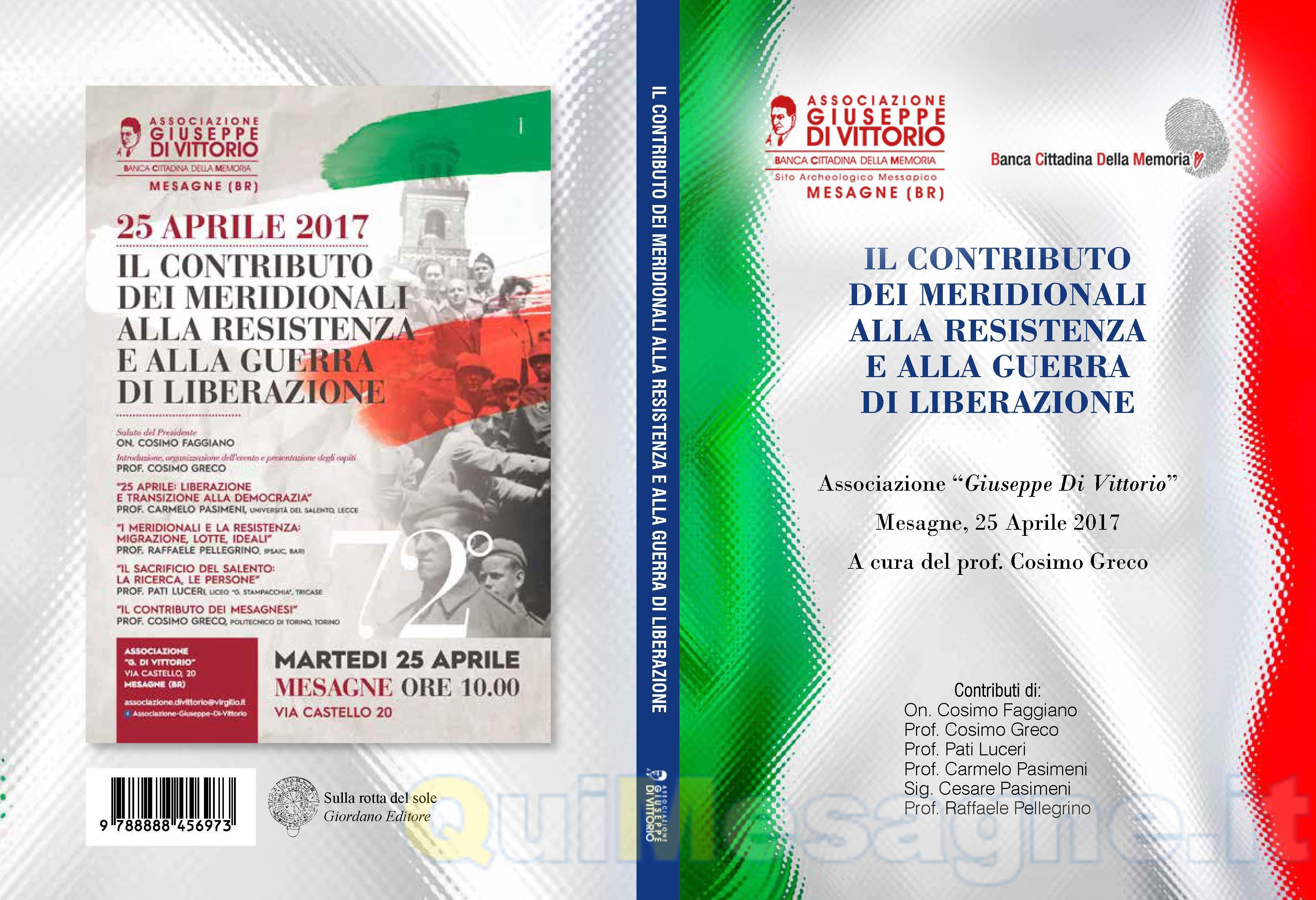 NATA DALLA RESISTENZA: 25 Aprile – 2 Giugno 70* anniversario della Costituzione – di Cosimo Greco