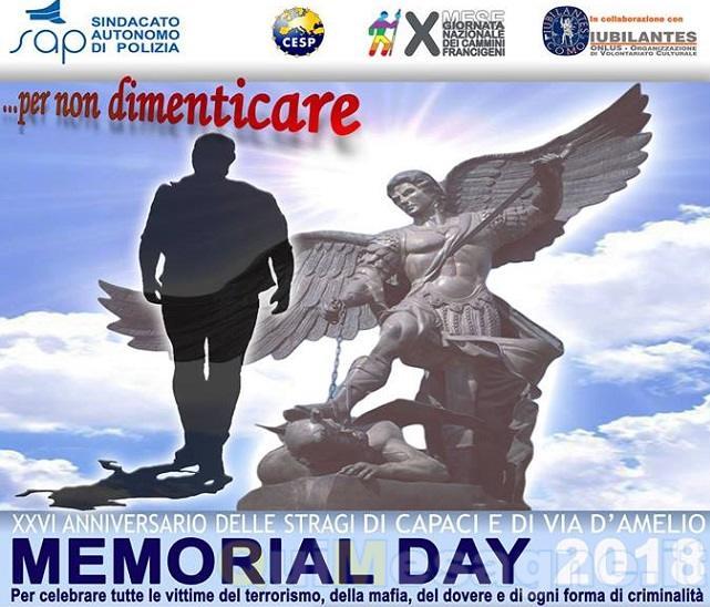 """Oggi prima tappa a Mesagne del """"Memorial Day 2018"""""""