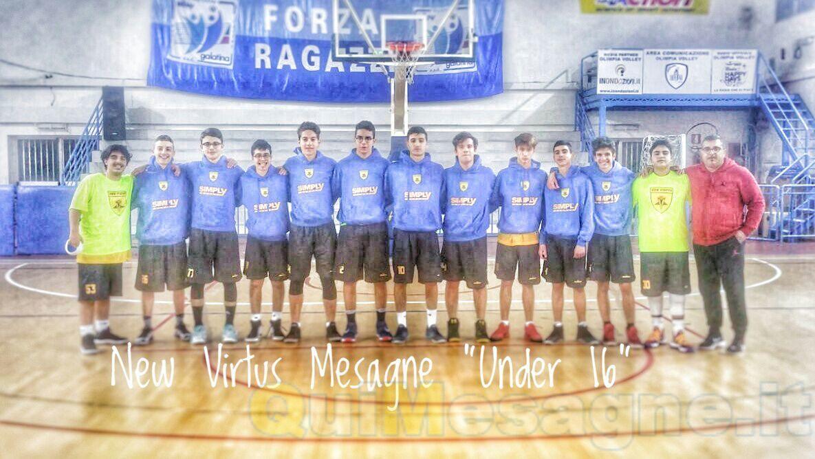 New Virtus Mesagne: gli U16 sbancano a Casarano e volano in finale
