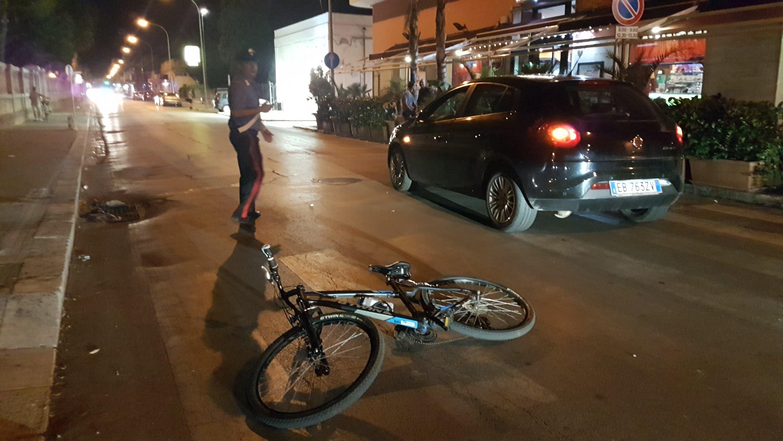 Baby ciclista investita su via Marconi