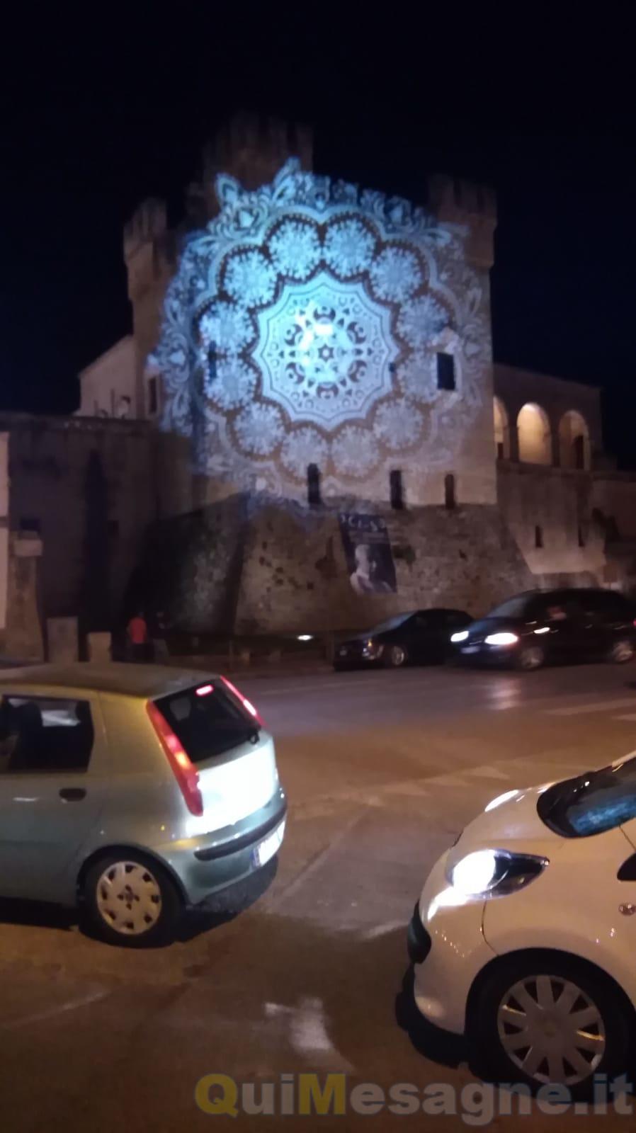 Vi piace il Castello illuminato così?